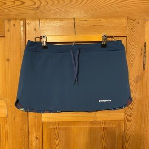 "Patagonia nine trails skirt skort blue 11"""